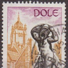 Sellos: FRANCIA 1971 SCOTT 1311 SELLO FUENTE Y TORRE DE DOLE 65C USADO FRANCE . Lote 28248268