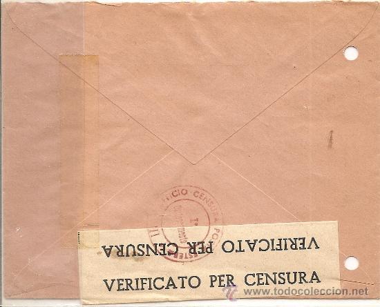 Sellos: SOBRE CENSURA MILITAR DE FRANCIA A SUIZA - AÑO 1943 - CENSURA ITALIANA - CON DIFERENTES MARCAS - Foto 2 - 28649781