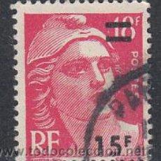 Sellos: FRANCIA IVERT 968, MARIANNE DE GANDON SOBRECARGADO, USADO. Lote 288510898
