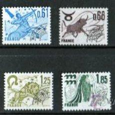Sellos: FRANCIA AÑO 1977 1978 YV PO 146/57*** PRE-OBLITERADOS - SIGNOS DEL ZODIACO - ASTROLOGÍA. Lote 29349691