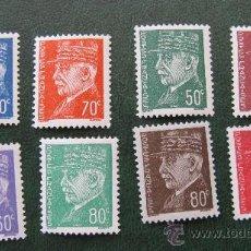 Timbres: 1941 FRANCIA, MARISCAL PETAIN, YVERT 508/15. Lote 30561866