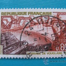 Sellos: 1969 FRANCIA, PRESA DE VOUGLANS, YVERT 1583. Lote 30681753