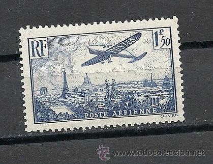 FRANCIA 1936 AEREO, YVERT, Nº 9**, AVION SOBRE PARIS. (Sellos - Extranjero - Europa - Francia)