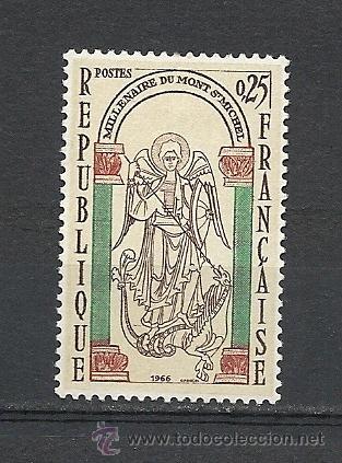 FRANCIA 1966, YVERT Nº 1482*, MONT SAINT-MICHEL. FIJASELLOS (Sellos - Extranjero - Europa - Francia)