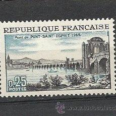 Sellos: FRANCIA 1966, YVERT Nº 1481*, PONT-SAINT-ESPRIT. FIJASELLOS. Lote 32813543