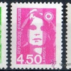 Sellos: FRANCIA AÑO 1996 YV 3005/07*** MARIANA DEL BICENTENARIO - SERIE BÁSICA. Lote 34688022