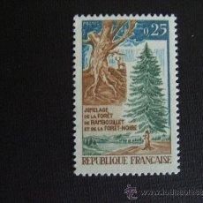 Sellos: FRANCIA ,Nº YVERT 1561***AÑO 1968. UNION DE LOS BOSQUES DE RAMBOUILLET Y BOSQUE NEGRO. Lote 40809291