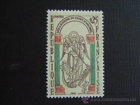 FRANCIA ,Nº YVERT 1482***AÑO 1966. MILENARIO DEL MONTE SAINT MICHEL (Sellos - Extranjero - Europa - Francia)