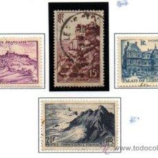 Sellos: FRANCIA.- YVERT Nº 759/60 Y 763/64, EN USADOS (FR-643). Lote 35812810