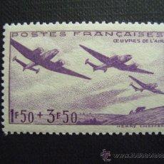 Sellos: FRANCIA ,Nº YVERT 540***AÑO 1942. PRO OBRAS AVIACION. Lote 117958460