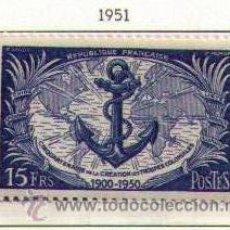 Sellos: FRANCIA 1951 - CINCUENTENARIO DE LAS TROPAS COLONIALES - YVERT Nº 889. Lote 36596151
