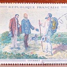 Sellos: SELLO GUSTAVE COURBET (1819-1877) SE PUSO EN CIRCULACION EL 12-11-1962 VALOR FACIAL 0,50 F. Lote 37582881