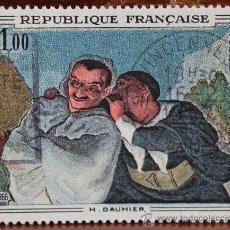 Sellos: SELLO REPUBLICA FRANCAISE AÑO 1966 IMPRESION GANDOR ILUSTRACION H. DAUMIER FORMATO HORIZONTAL. Lote 37593578