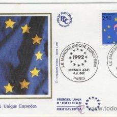 Sellos: SOBRE PRIMER DIA - FRANCIA - EL MERCADO UNICO EUROPEO 1992. Lote 38801347