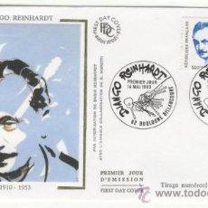 Sellos: SOBRE PRIMER DIA - FRANCIA - DJANGO REINHARDT 1993. Lote 38801507