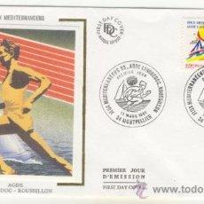 Sellos: SOBRE PRIMER DIA - FRANCIA - JUEGOS DEL MEDITERRANEO 1993. Lote 38801522