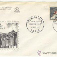 Sellos: SOBRE PRIMER DIA - FRANCIA - EXPOSICION FILATELICA INTERNACIONAL PARIS 1963. Lote 38801658