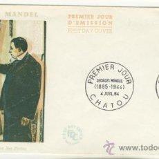 Sellos: SOBRE PRIMER DIA - FRANCIA - GEORGES MANDEL 1964. Lote 38802216