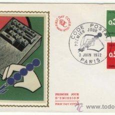 Sellos: SOBRE PRIMER DIA - FRANCIA - CODIGO POSTAL 1972. Lote 38802252