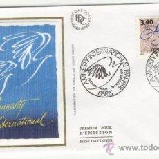 Sellos: SOBRE PRIMER DIA - FRANCIA - ANMISTIA INTERNACIONAL 1991. Lote 38802318