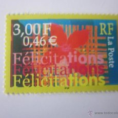 Sellos: SERIE SELLOS FRANCIA FELICIDAD. AÑO 2000. Lote 40457977