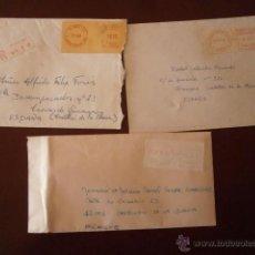 Sellos: TRES INTERESANTES SOBRES CIRCULADOS DE FRANCIA,CON ETIQUETAS-LABEL ?. Lote 40678759