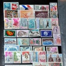 Sellos: LOTE 46 SELLOS NUEVOS DE FRANCIA AÑO 1973 - LO QUE SE VE EN LAS IMÁGENES -. Lote 40757753