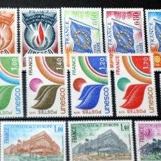 Sellos: LOTE 17 SELLOS NUEVOS DE FRANCIA UNESCO Y MÁS - AÑOS 70 - LO QUE SE VE EN LAS IMÁGENES -. Lote 40757886