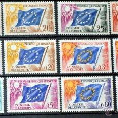 Sellos: LOTE 12 SELLOS NUEVOS DE FRANCIA CONSEJO DE EUROPA - AÑOS 70 - LO QUE SE VE EN LAS IMÁGENES -. Lote 40757929