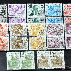 Sellos: LOTE 16+16 (DOBLES) SELLOS NUEVOS DE FRANCIA - 1977-79 - LO QUE SE VE EN LAS IMÁGENES -. Lote 40758021