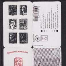 Sellos: FRANCIA 2013. CARNET MARIANNE. 14 SELLOS . Lote 41360463