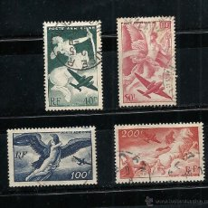Sellos: FRANCIA 1946-1947 YVERT Nº 16/19, AEREO, USADO. Lote 42357826