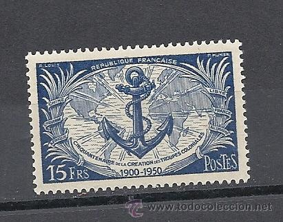 FRANCIA 1951, YVERT Nº 889*, TROPAS COLONIALES. FIJASELLOS (Sellos - Extranjero - Europa - Francia)