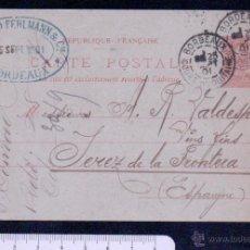 Sellos: FRANCIA.ENTERO POSTAL CIRCULADO.AÑO 1901. Lote 46563373