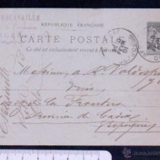 Sellos: FRANCIA.ENTERO POSTAL CIRCULADO.AÑO 1901. Lote 46563398