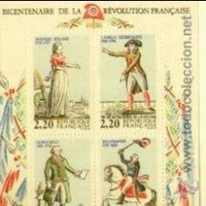 Sellos: FRANCIA-1989 ( HOJA BLOQUE Nº 10) BICENTENARIO REVOLUCION. Lote 153968553