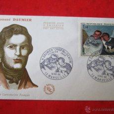Sellos: SOBRE PRIMER DIA DE FRANCIA. HONORÉ DAUMIER. 1966. Lote 47027332