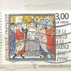Selos: 1996 FRANCIA. EL BAUTISMO DE CLOVIS: DE LA GALIA A FRANCIA 496-1996. Lote 210603795