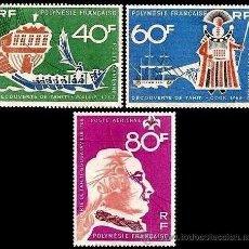 Sellos: POLINESIA FRANCESA 1968 YVERT AEREOS 22/24 **. Lote 44301161