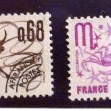 Sellos: SELLOS FRANCIA 1977. NUEVOS. SIGNOS DEL ZODIACO.. Lote 48355699