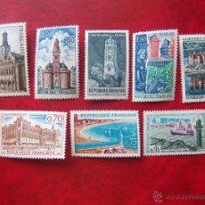 Sellos: FRANCIA 1966, YVERT 1499-506, MNH-SC. Lote 49379225
