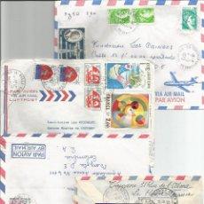 Sellos: LOTE DE 4 SOBRES AEREOS - FRANCIA. Lote 49693135