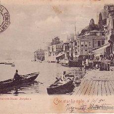 Sellos: F12-9-POSTAL CONSTANTINOPLA -ITALIA 1901. Lote 156784045