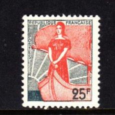 Sellos: FRANCIA 1216** - AÑO 1959 - MARIANNE. Lote 177755953