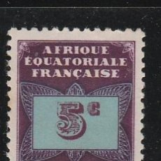 Sellos: AFRICA ECUATORIAL FRANCESA. TIMBRE TAXE. 5 C. **(21-284 ). Lote 52539131