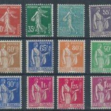 Sellos: R6/ FRANCIA, Nº 360/71, CAT. 19€, AÑO 1937, NUEVOS SIN Y CON CHARNELA. Lote 53223148