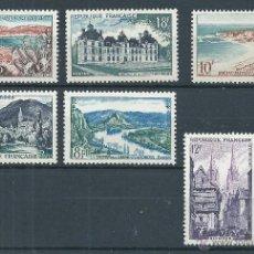 Sellos: R6/ FRANCIA, AÑO 1954, Y&T 976/81, CATALOGO 10,50€ NUEVOS**. Lote 53300077