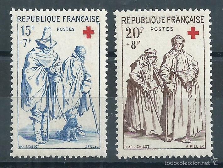 R9/ FRANCIA EN NUEVO** 1957, Y&T 1140/41, AU PROFIT DE LA CROIX ROUGE (Sellos - Extranjero - Europa - Francia)