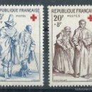 Sellos: R9/ FRANCIA EN NUEVO** 1957, Y&T 1140/41, AU PROFIT DE LA CROIX ROUGE. Lote 56524927
