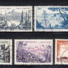 Sellos: FRANCIA 1036/42 - AÑO 1955 - TURISMO - PAISAJES. Lote 177846879